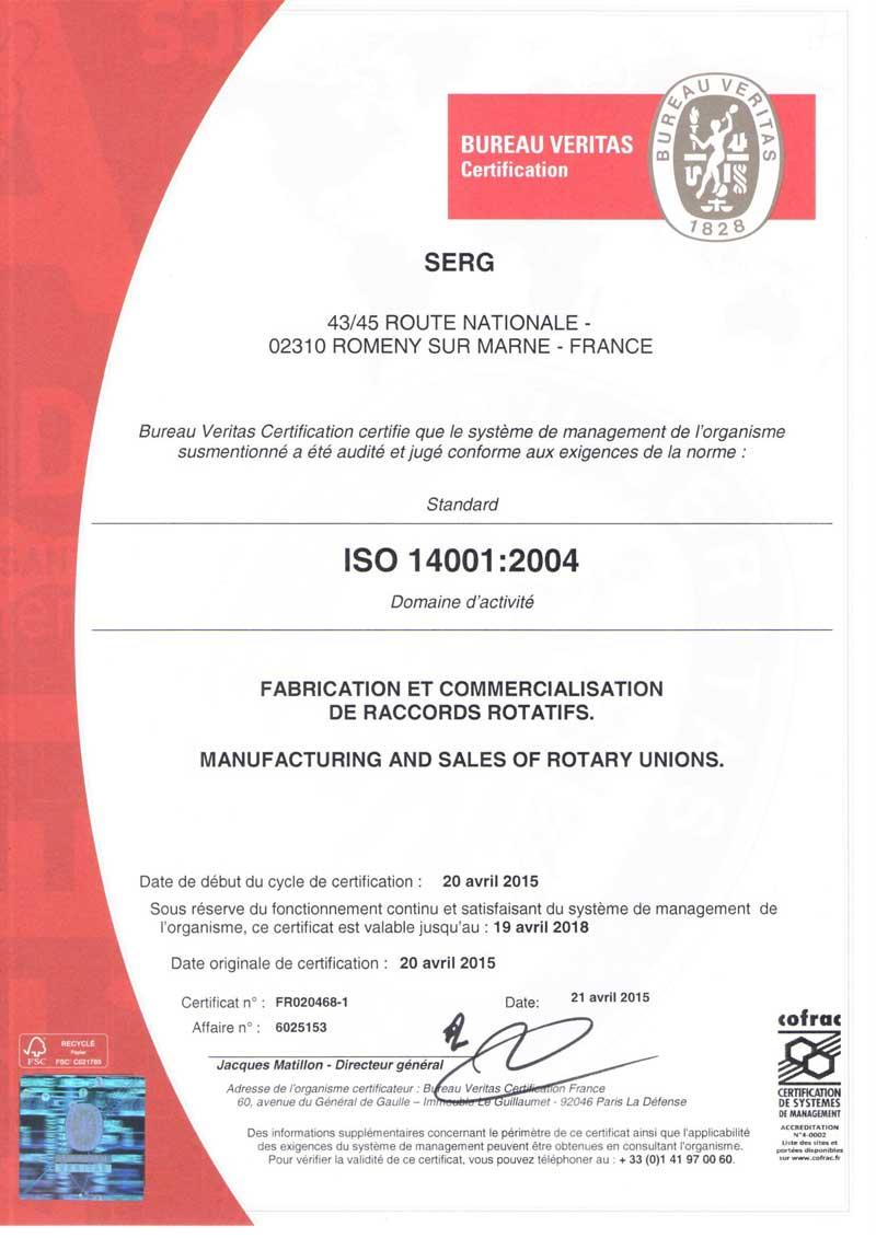 Certificat-ISO-14001---SERG-DUFF-NORTON