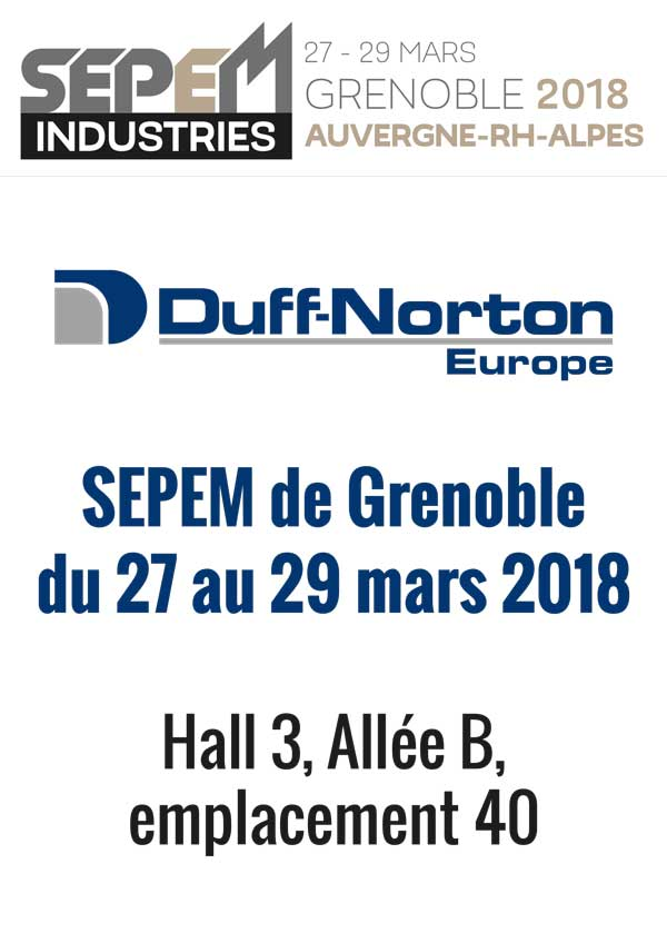 Salon sepem duff norton europe for Salon sepem